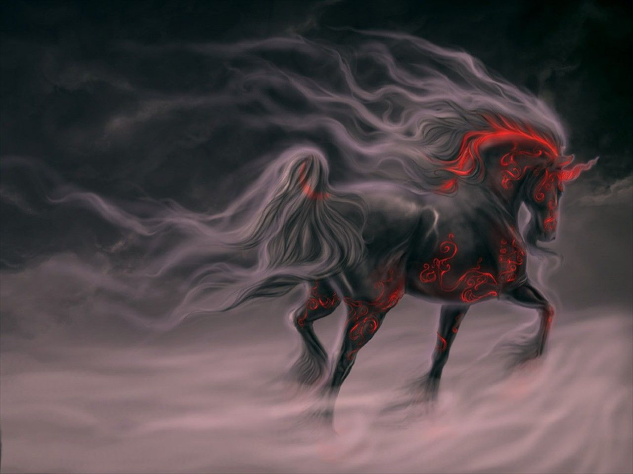 Black hell horse